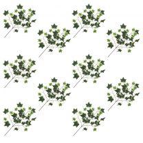 Kunstbladeren klimop 10 st 70 cm groen en wit