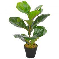 Kunstplant met pot vioolbladplant 45 cm groen