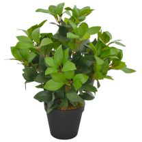 Kunstplant met pot laurierboom 40 cm groen