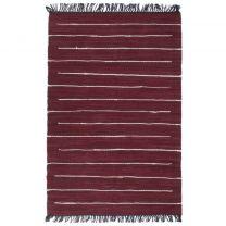 Vloerkleed chindi handgeweven 80x160 cm katoen bordeauxrood