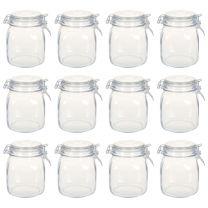 Potten met sluiting 12 st 1 L glas