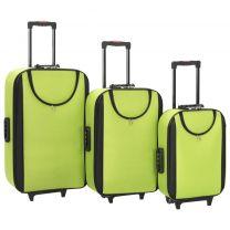 Zachte trolleys 3 st oxford stof groen