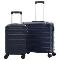 2-delige Harde kofferset ABS marineblauw