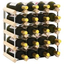 Wijnrek voor 20 flessen massief grenenhout