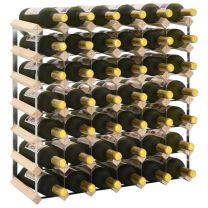 Wijnrek voor 42 flessen massief grenenhout