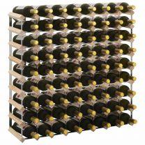 Wijnrek voor 72 flessen massief grenenhout