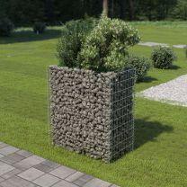 Gabion plantenbak 90x50x100 cm gegalvaniseerd staal