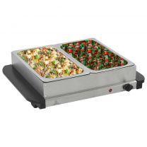 Buffetwarmer 200 W 2x2,5 L roestvrij staal