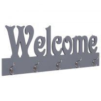 Wandkapstok WELCOME 74x29,5 cm grijs