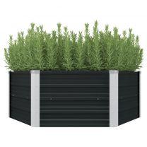 Plantenbak verhoogd 129x129x45 cm gegalvaniseerd staal antraciet
