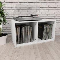 Opbergbox voor LP's 71x34x36 cm spaanplaat wit