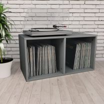 Opbergbox voor LP's 71x34x36 cm spaanplaat grijs
