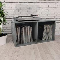 Opbergbox voor LP's 71x34x36 cm spaanplaat hoogglans grijs