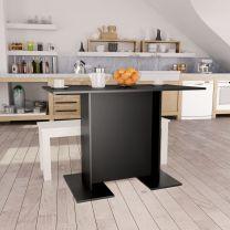 Eettafel 110x60x75 cm spaanplaat zwart