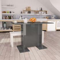 Eettafel 110x60x75 cm spaanplaat hoogglans grijs