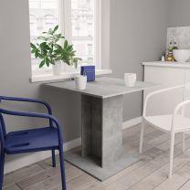 Eettafel 80x80x75 cm spaanplaat betongrijs