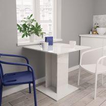 Eettafel 80x80x75 cm spaanplaat hoogglans wit
