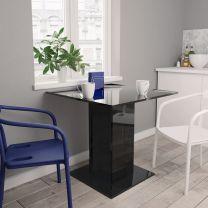 Eettafel 80x80x75 cm spaanplaat hoogglans zwart