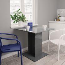 Eettafel 80x80x75 cm spaanplaat hoogglans grijs