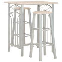 3-delige Barset hout en staal