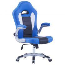 Gamingstoel kunstleer blauw