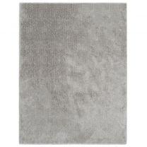 Vloerkleed shaggy hoogpolig 120x160 cm grijs