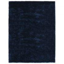 Vloerkleed shaggy hoogpolig 140x200 cm blauw