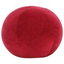 Poef 50x35 cm katoenfluweel rood