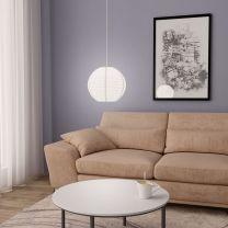Hanglamp E27  30 cm wit