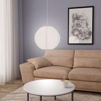 Hanglamp E27  45 cm wit