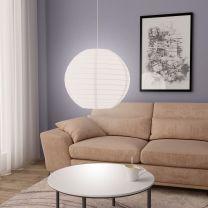 Hanglamp E27  60 cm wit