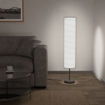 Vloerlamp met standaard E27 121 cm wit