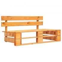 Tuinbank pallet hout honingbruin