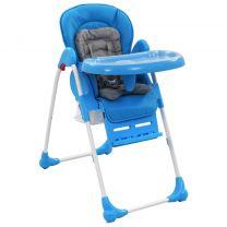 Kinderstoel hoog blauw en grijs