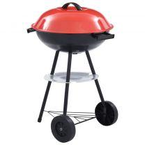 Kogelbarbecue houtskool met wieltjes XXL 44 cm