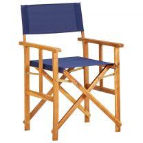 Regisseursstoel massief acaciahout blauw