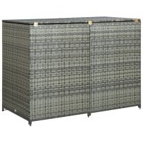 Containerberging dubbel 148x77x111 cm poly rattan antraciet