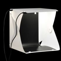 Softbox met LED-lamp inklapbaar 23x25x25 cm wit