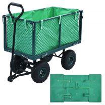 Tuinwagenvoering stof groen