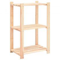 Opbergrek 3-laags 60x38x90 cm massief grenenhout 150 kg