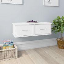 Wandschap met lades 60x26x18,5 cm spaanplaat wit