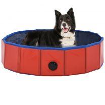 Hondenzwembad inklapbaar 80x20 cm PVC rood