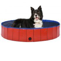Hondenzwembad inklapbaar 160x30 cm PVC rood