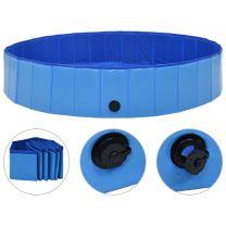 Hondenzwembad inklapbaar 160x30 cm PVC blauw
