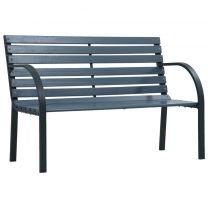 Tuinbank 120 cm hout grijs