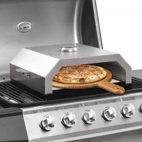 Pizzaoven met keramische steen voor gas-/houtskoolbarbecue