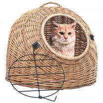 Kattendrager 60x45x45 cm natuurlijk wilgenhout