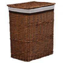 Wasmand stapelbaar wilgenhout bruin