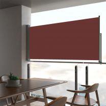 Tuinscherm uittrekbaar 60x300 cm bruin