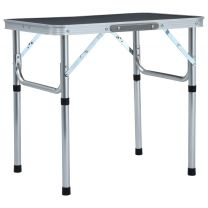 Campingtafel inklapbaar 60x45 cm aluminium grijs
